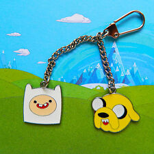 Adventure Time Finn & Jake Keychain / Keyring - FREE POSTAGE