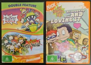 Rugrats Movie, Go Wild & All Grown Up. Region 4 PAL DVDs. Free postage!