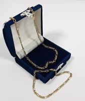 1980s Vintage Gold Tone Necklace & Bracelet Set Curb Chain Elegant Smart Costume