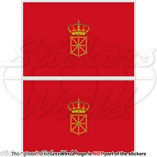 "NAVARRE Flag SPAIN Navarra, Nafarroa Spanish 100mm (4"") Vinyl Stickers Decals x2"