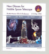 Palau #453-456 Hubble Telescope Space M/S of 6 & 3v S/S Imperf Chromalin Proofs