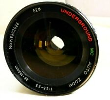 Underground 28-100mm f3.5-5.5 MD manual focus lens for Minolta SRT PARTS AS IS