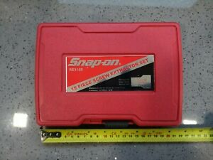 REX15B SNAP ON 14 PIECE SCREW EXTRACTOR SET IN CASE USED