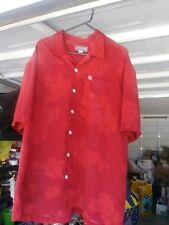 Vintage Quicksilver Mens Red Button Up Camp Shirt Beach Surf Cruise Hawaiian Men