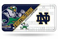 Notre Dame Fighting Irish Metal License Plate Tag Wall Sign Man Cave FAST SHIP