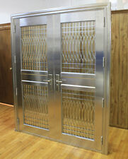 Double Stainless Steel Entry Doors / Open Outward..Free Shipping