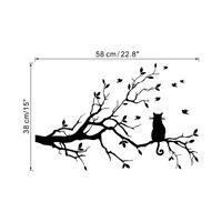 Cat on a long tree branch Wall Art Sticker