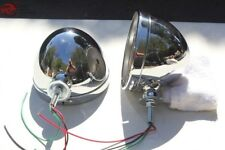 "Chrome Hot Rat Street Rod Roadster Dietz 7"" Headlight Lamp Buckets Assemblies"