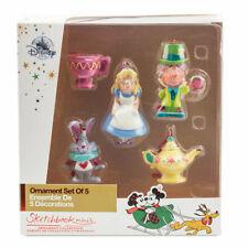 Disney Alice in Wonderland Sketchbook Set of 5 Mini Ornaments