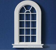 Large Georgian 16 Pane Window Slightly Cream Colour, Dolls House Miniature