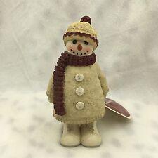 """HALLMARK SNOWMAN FIGURINE FIGURE """"MITTENS"""" 5"""""""