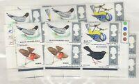 GB QEII 1966 Birds Blocks x 10 Incl Traffic Light MNH J9599