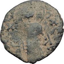 1146AD ARAB BYZANTINE Zangid Atabegs JESUS CHRIST Ancient ISLAMIC Coin i64849