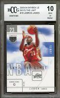 2003-04 Skybox LE Sky's The Limit #16 LeBron James Rookie Card BGS BCCG 10 Mint+