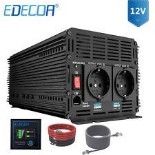 EDECOA Spannungswandler 3000 6000 Watt 12V 230V Wechselrichter mit Fernbedienung