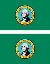 2 x Autocollant sticker voiture vinyl drapeau USA americain washington