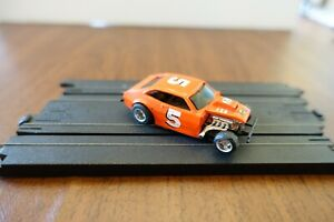 RARE VINTAGE TYCO ROUGHRIDER ORANGE PINTO #5 CURVE HUGGER w/ CHASSIS RUNS / NM+