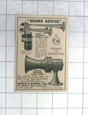 1935 Talk And Harris Ltd, Road To Paradise Musical Horn, American Police Sirens