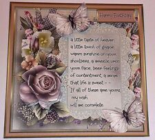 Handmade Greeting Card 3D All Occasion with Roses And Butterflies With Sentiment