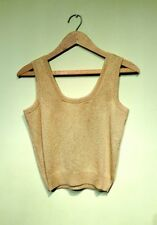 St. John Gold Sparkle Knit Sleeveless Tank Top Cami Seperates Petite Small NEW