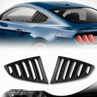Carbon Style 1/4 Side Window Louvers Scoop Cover Vent For 2015-2018 Ford Mustang