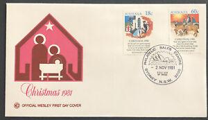 Australia FDC WCS 1981 Christmas