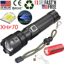 99000LM xhp70 5 Modes LED Zoomable USB Rechargeable 26650 Flashlight Torch Light