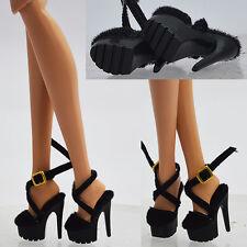 "Black Shoes for 12"" Fashion Royalty doll Poppy Parker DG Momoko veronique 33FR1"