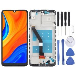 For Huawei Y6s 2019  LCD Screen Frame Touch Digitizer Glass Part BLACK