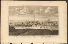 More details for 1779 ca antique print- worcestershire - perspective view, cathedral and city of