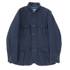 Montedoro Sportswear Navy Blue Wool Giacco Franchigia Field Jacket, EU 50 UK 40