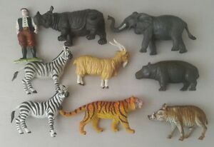 plastic animal toys bundle - elc animals x2 and 90s animals x7