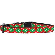 Mirage Pet Products Christmas Argyle Nylon Ribbon Cat Safety Collar