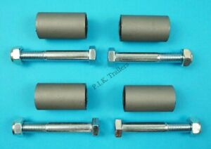 4 x Leaf Spring Eye Bush 28mm x 50mm with 80mm Bolts for Ifor Williams Trailer
