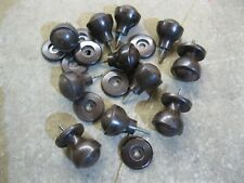 1 No Original Reclaimed Walnut Brown Everite Large Cupboard Knobs CP42