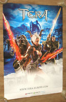 TeraVideo Game PS4  rare promo Poster 84x59 cm Playstation 4