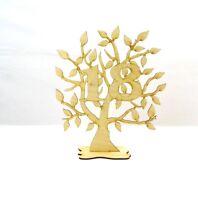 Jubiläums Baum zum 18 Geburtstag aus Holz, 28 cm,Geschenk, Lebensbaum