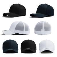 XL~2XL 60~63Cm Mens Mesh Stretch Fit Flexfit Spandex Baseball Cap Trucker Hats