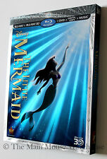 Disney The Little Mermaid 3D Blu-ray DVD Digital Copy with Reflective Slipcover