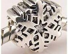 925 STERLING SILVER FINISH SNOWFLAKE CHARM BEAD