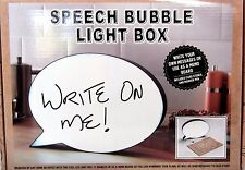 Light Up Box Speech Bubble Sign Write Your Own Message Decor Party Wedding - NEW