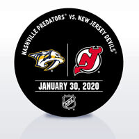 New Jersey Devils Game Used NHL Warm Up Puck 1/20/2020 vs. Nashville Predators!