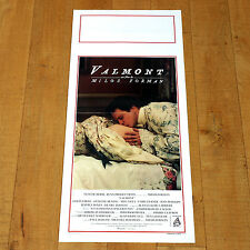 VALMONT locandina poster Firth Tilly Bening Nobilta' Francia XVIII Bacio p21