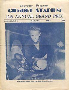 Gilmore Stadium Auto Race Program 11/25/1948-Vukovich-Roger Ward-URA-VG/FN
