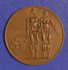 """OMNIA VINCIT AMOR"" ADAM & EVA BRONZE PLAKETTE 60mm SIGNIERT:KNA"