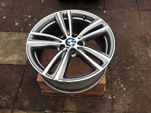"2x GENUINE BMW 3 4 SERIES 19"" 442 M SPORT DOUBLE SPOKE ALLOY WHEEL ONLY 8J FRONT"