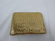 Vintage Mid Century Gold Mesh BiFold Wallet w Change Purse Whiting & Davis ?