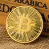 Bitcoin BTC Medal Gold Plated Coin Souvenir Metal Craft Coins Non currency HB