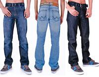 Mens T&H Classic Comfort Fit Jeans With Belt Lightwash Darkwash Rinsewash 30 -40