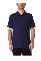 NWT Fila Men's Short Sleeve Polo Shirt - Navy LARGE